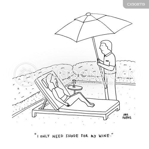 sun bed cartoon