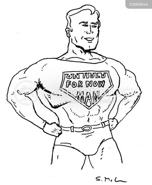 comic book heroes cartoon