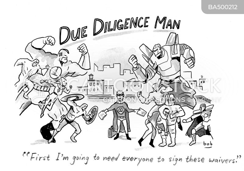 due diligence cartoon