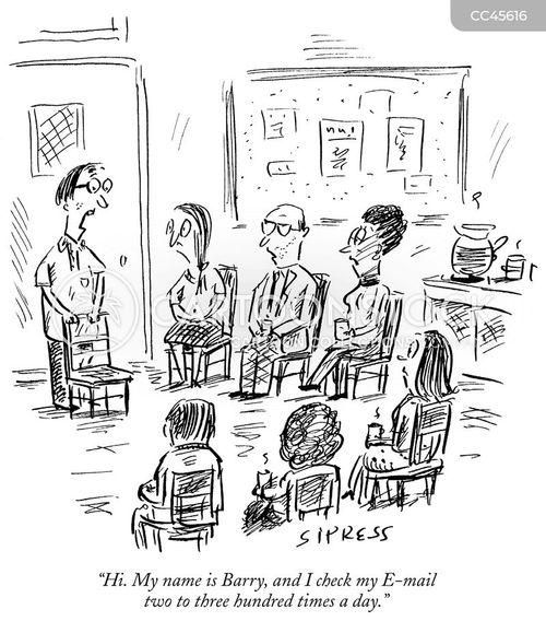 check emails cartoon
