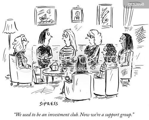 financial market cartoon