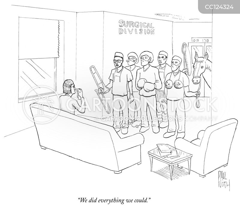 medical procedure cartoon
