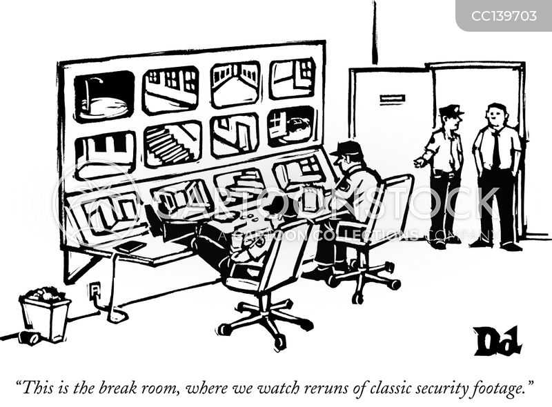 video surveillance cartoon