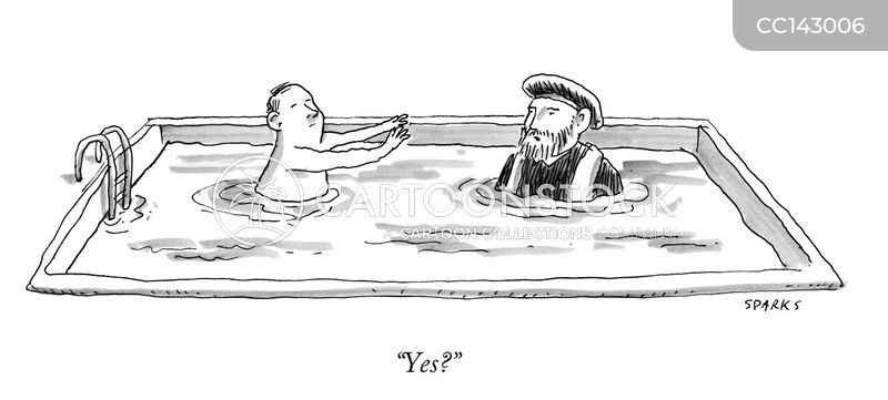 pool cartoon