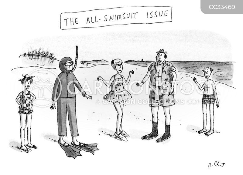 swimming costume cartoon