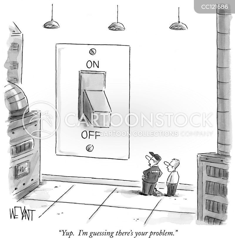on switches cartoon