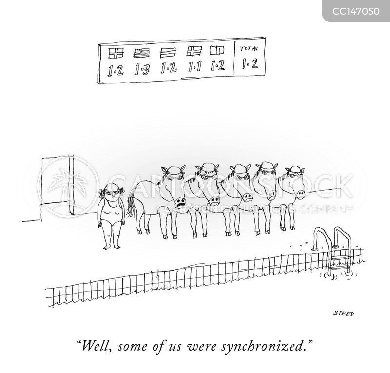 synchronized cartoon