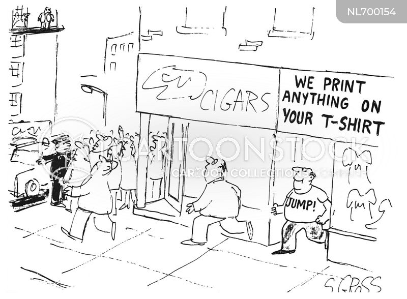 Cigar Shop cartoon