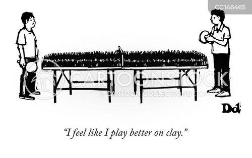 table tennis tables cartoon