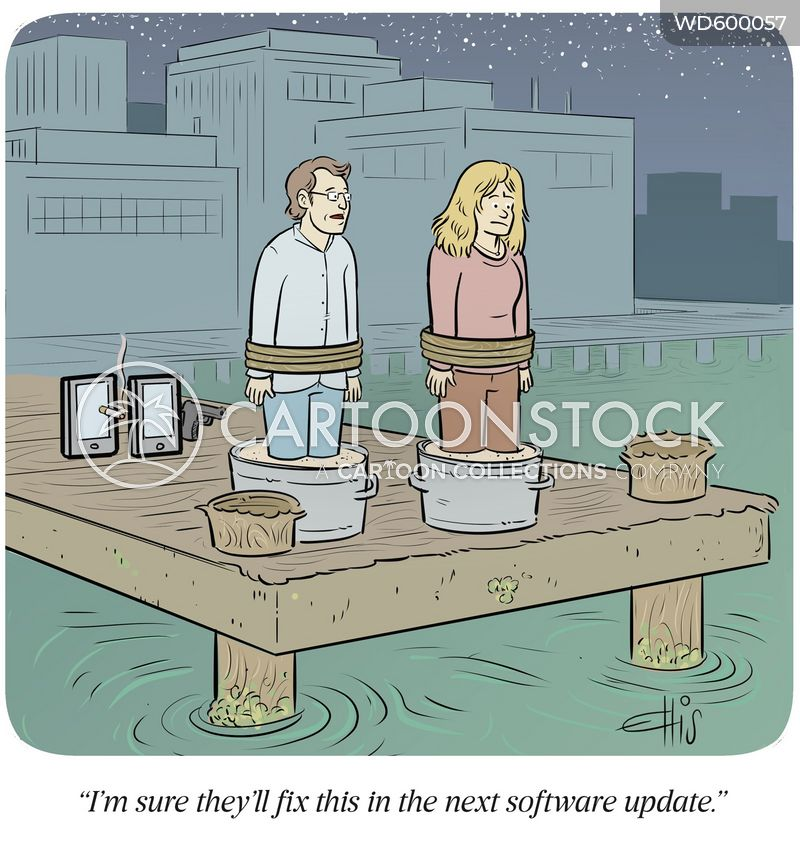 sleep with the fishes cartoon