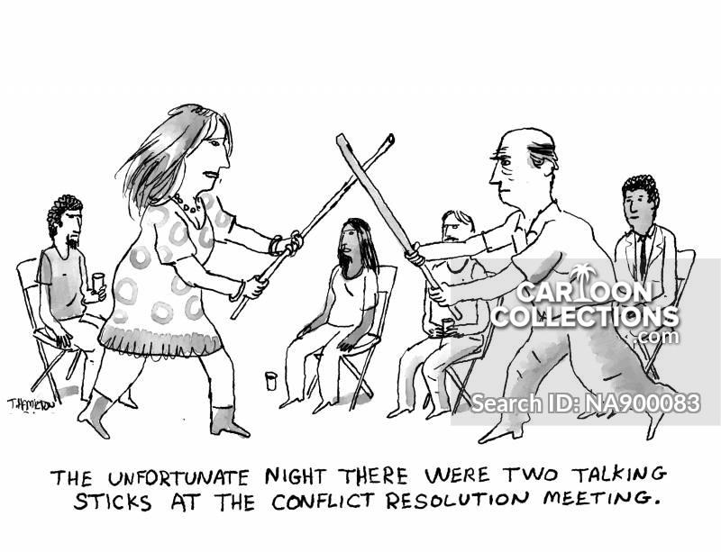 conflict resolution cartoon