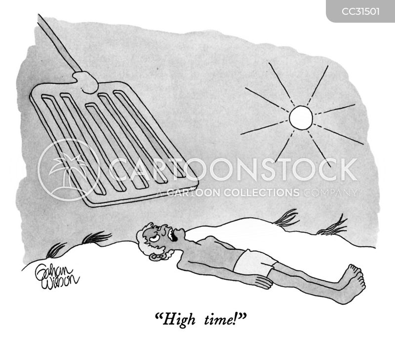 sun bathers cartoon
