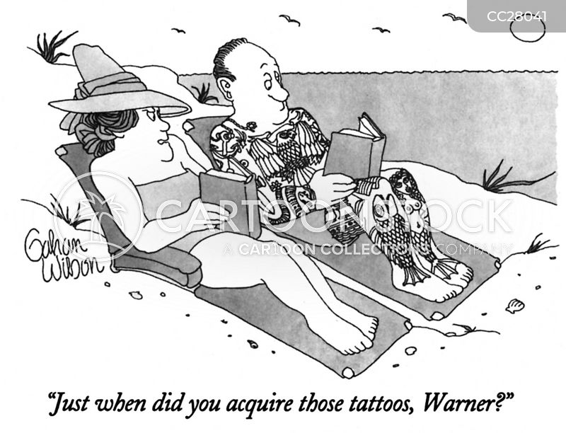 vacation cartoon