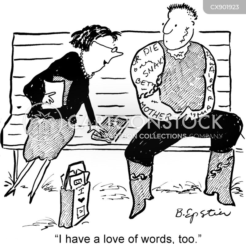 word lovers cartoon