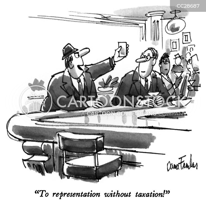 taxation without representation cartoon