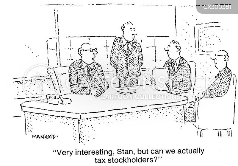 stockholder cartoon
