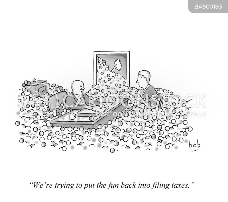 taxes cartoon