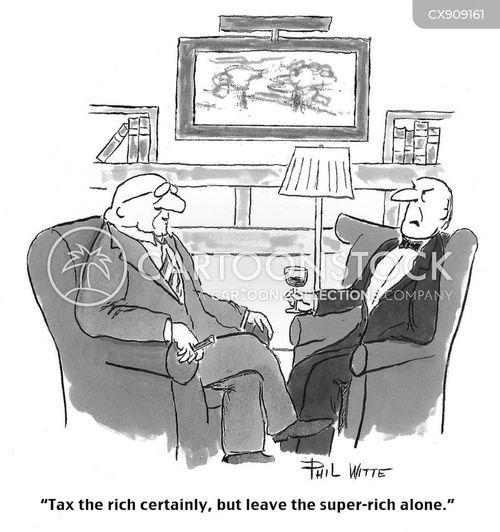 taxed cartoon