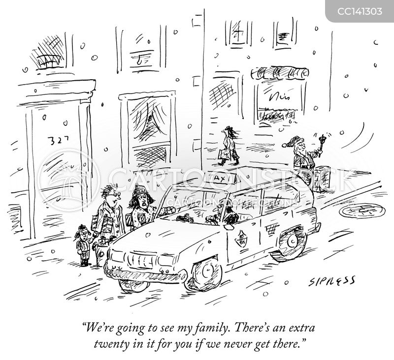 Visiting Family cartoon