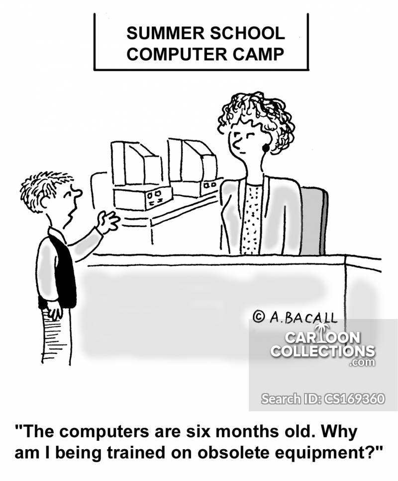 computer camps cartoon