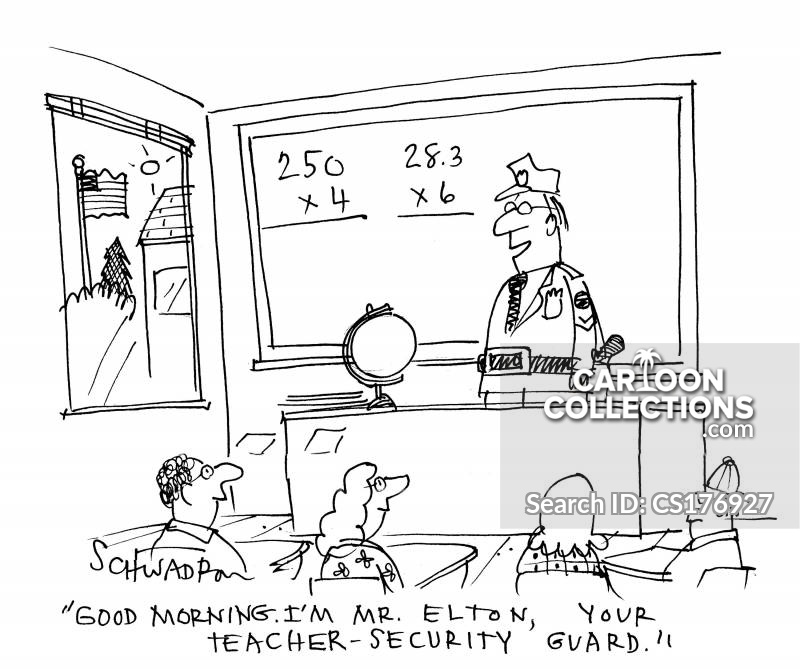 violence in schools cartoon