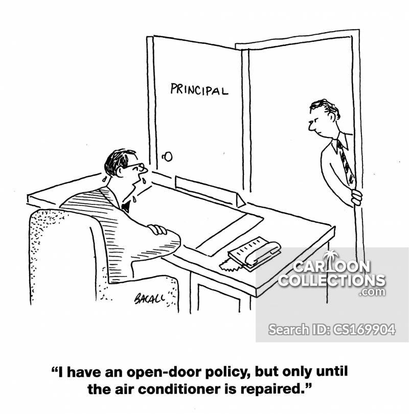 open door policy drawing