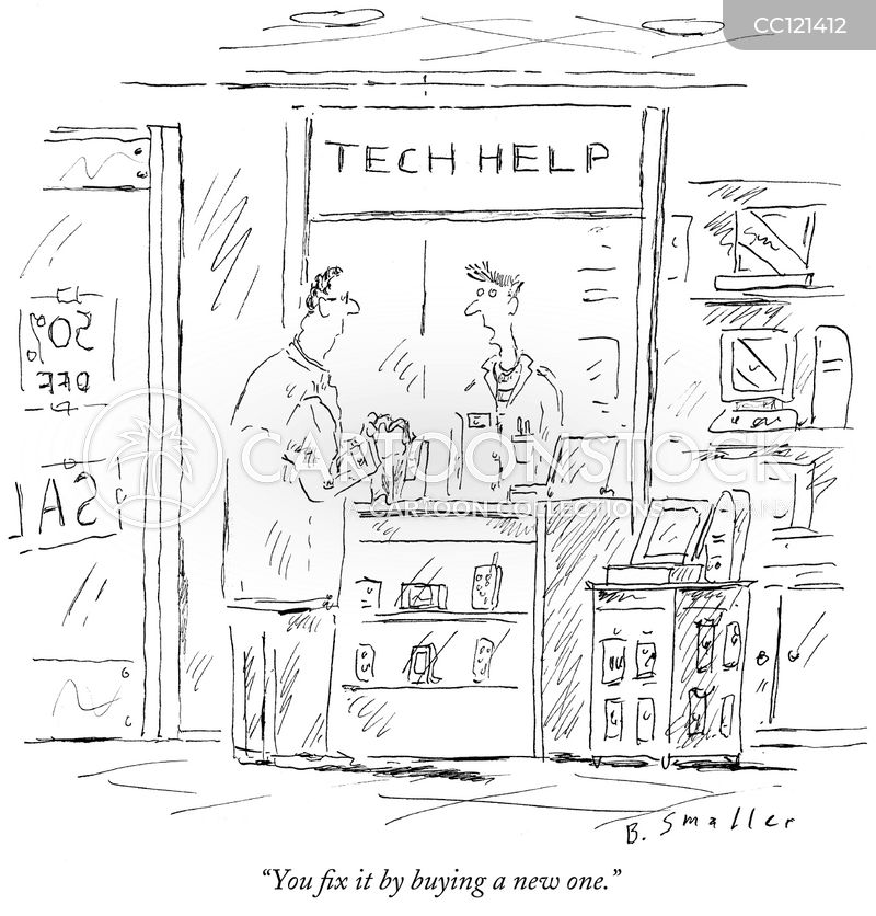 technical help cartoon