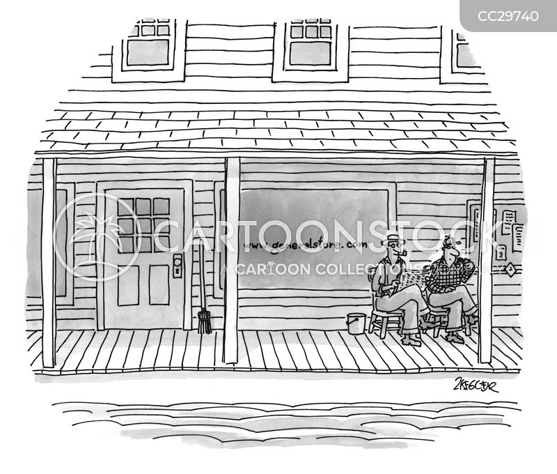 on the porch cartoon