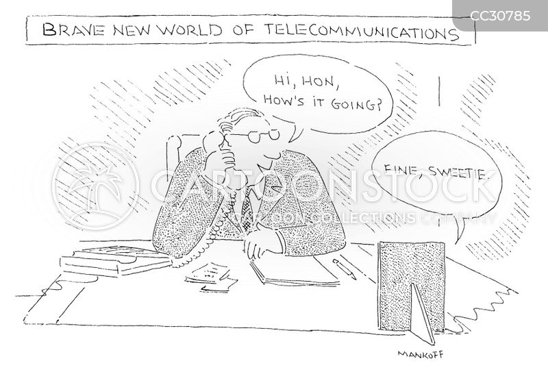 video conferences cartoon