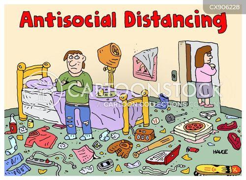 messy room cartoon