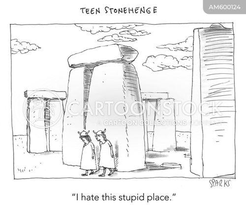 stone circle cartoon