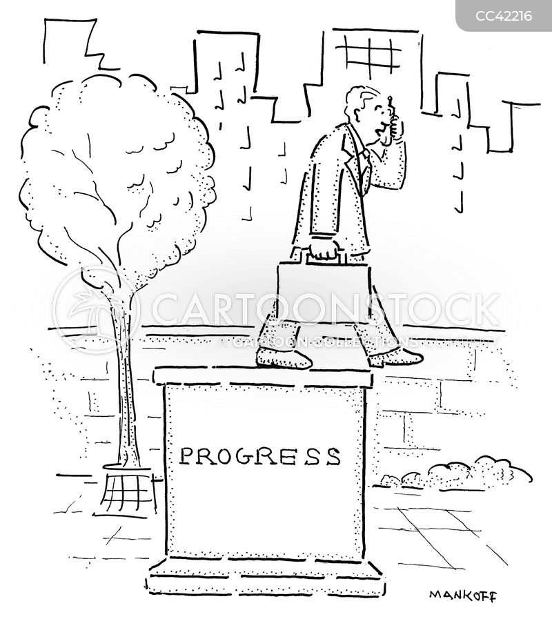progress cartoon