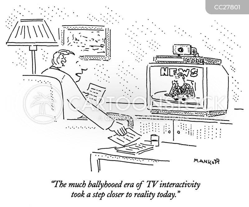 Interactive Televisions cartoon