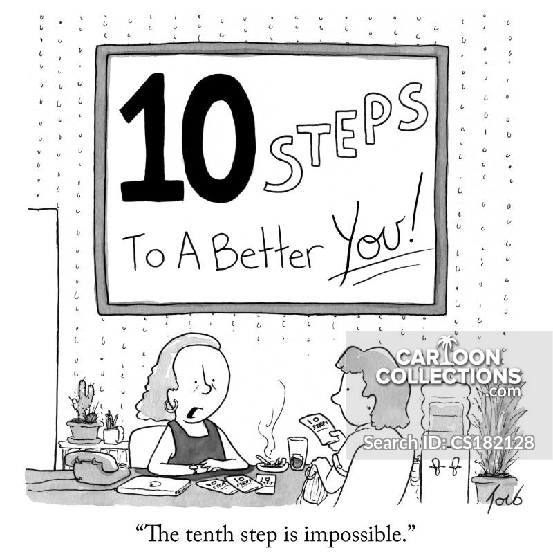 twelve step programs cartoon