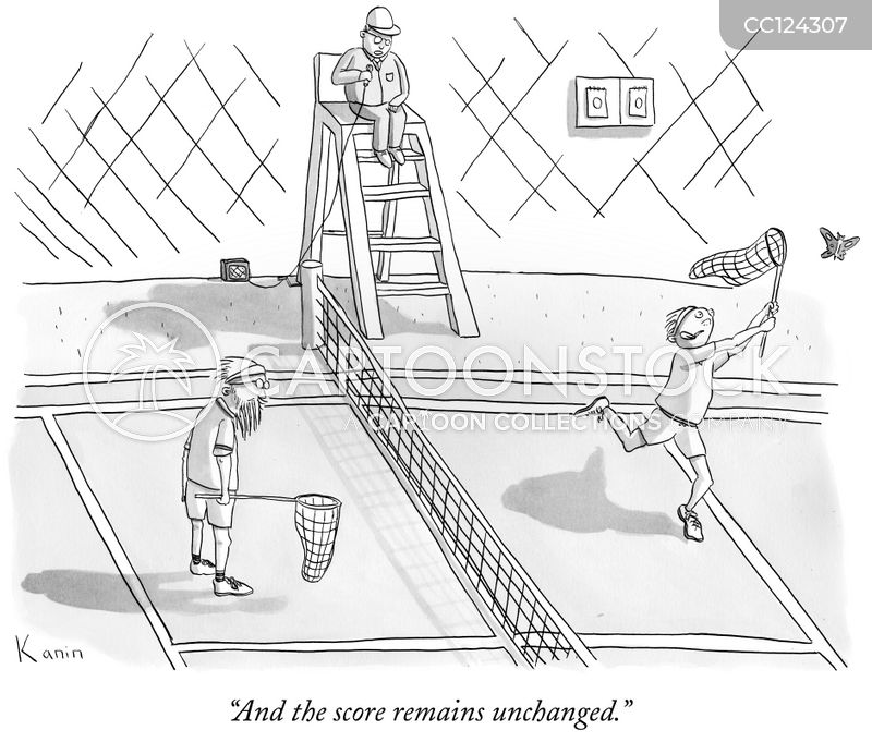 tennis official cartoon
