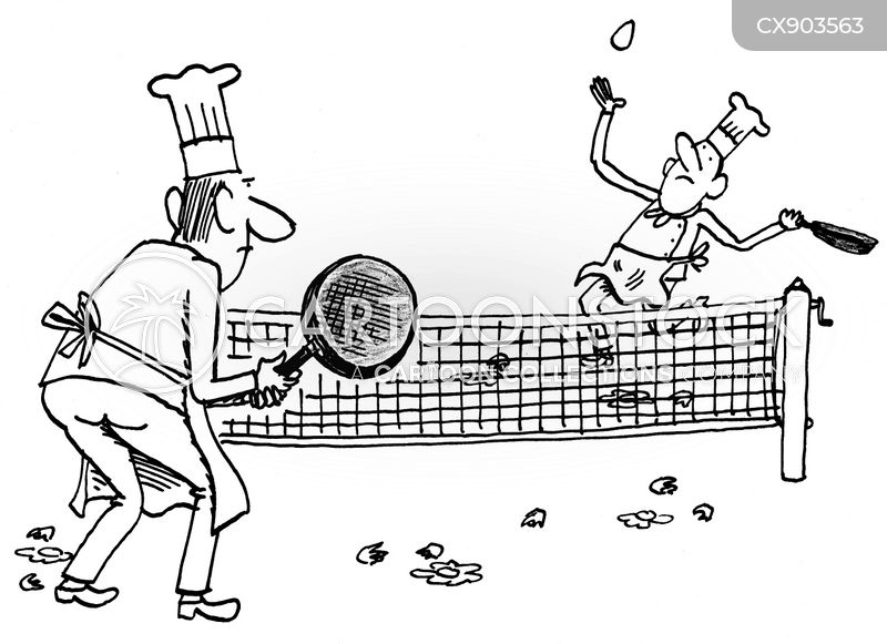 tennis match cartoon