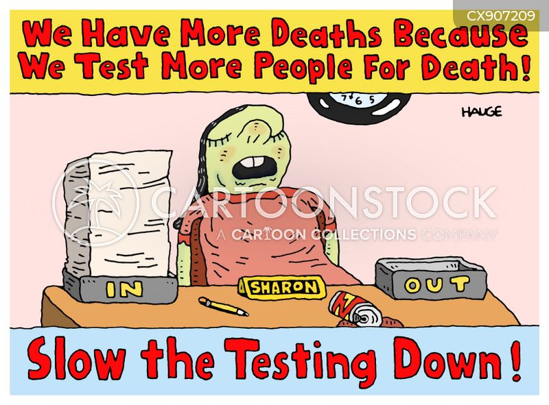 covid test cartoon