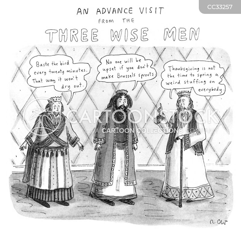 wise men cartoon