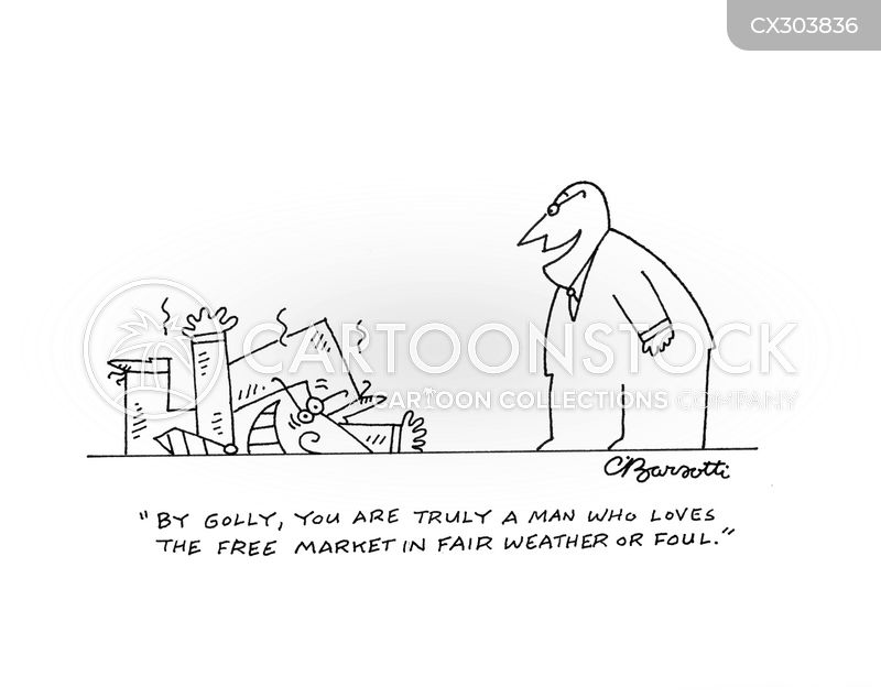 the free market cartoon