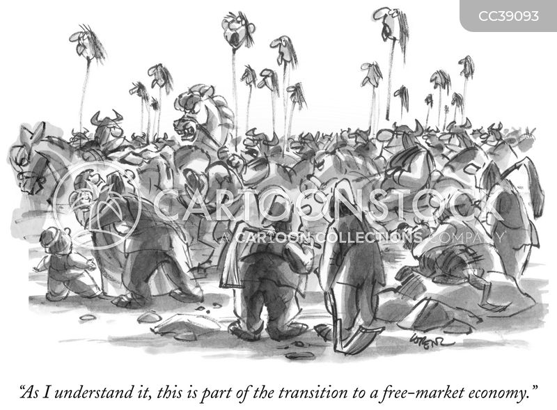 economic shock therapy cartoon