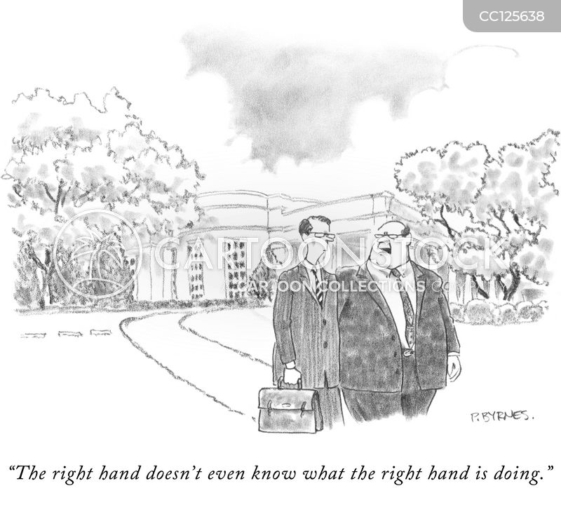 right hand man cartoon