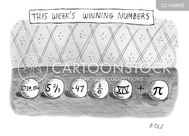 lottery balls cartoon