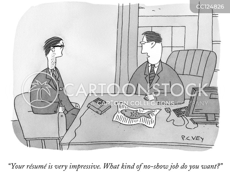 no show job cartoon