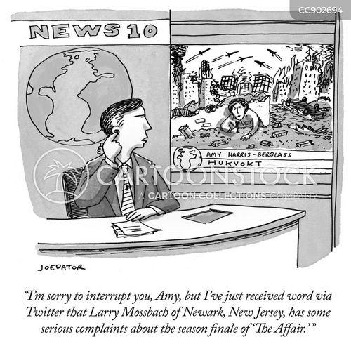 news presenter cartoon