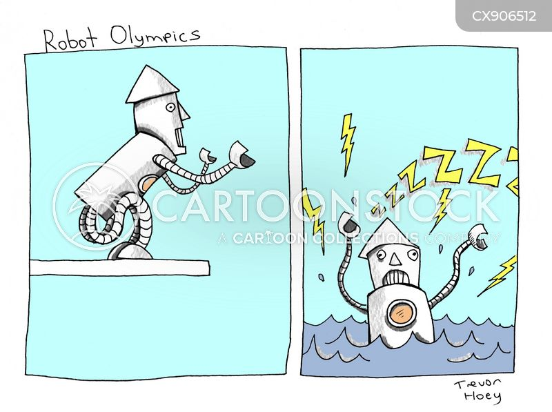 robot sports cartoon