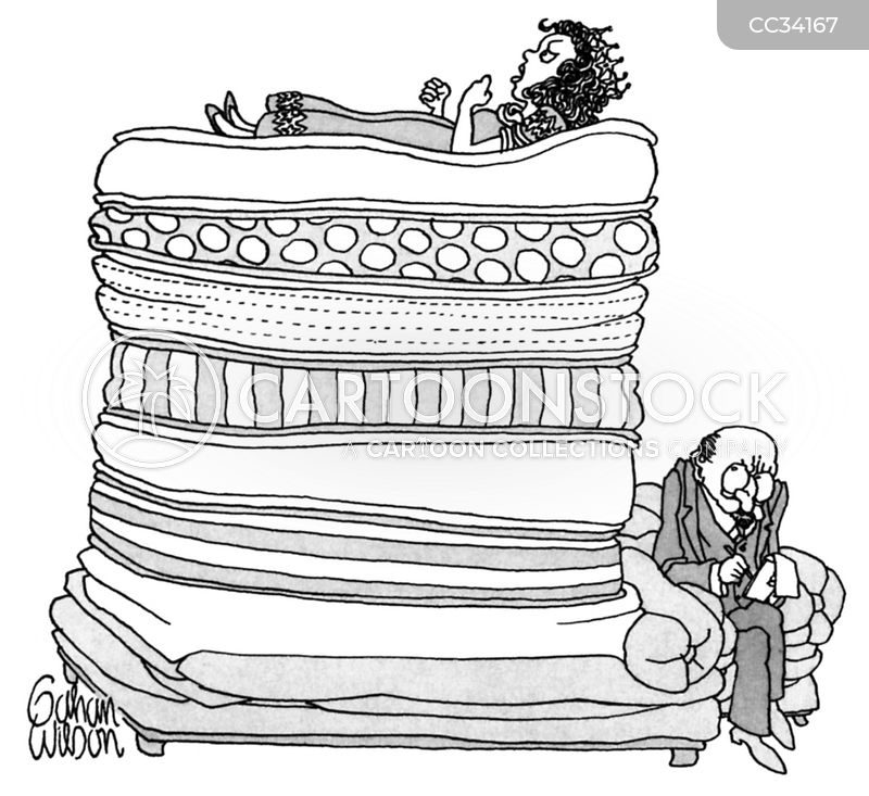 princess and the pea cartoon