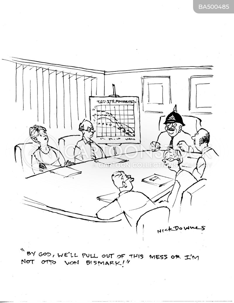 going into administration cartoon
