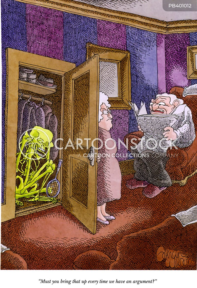 Skeleton In The Cupboard Cartoons and Comics - funny