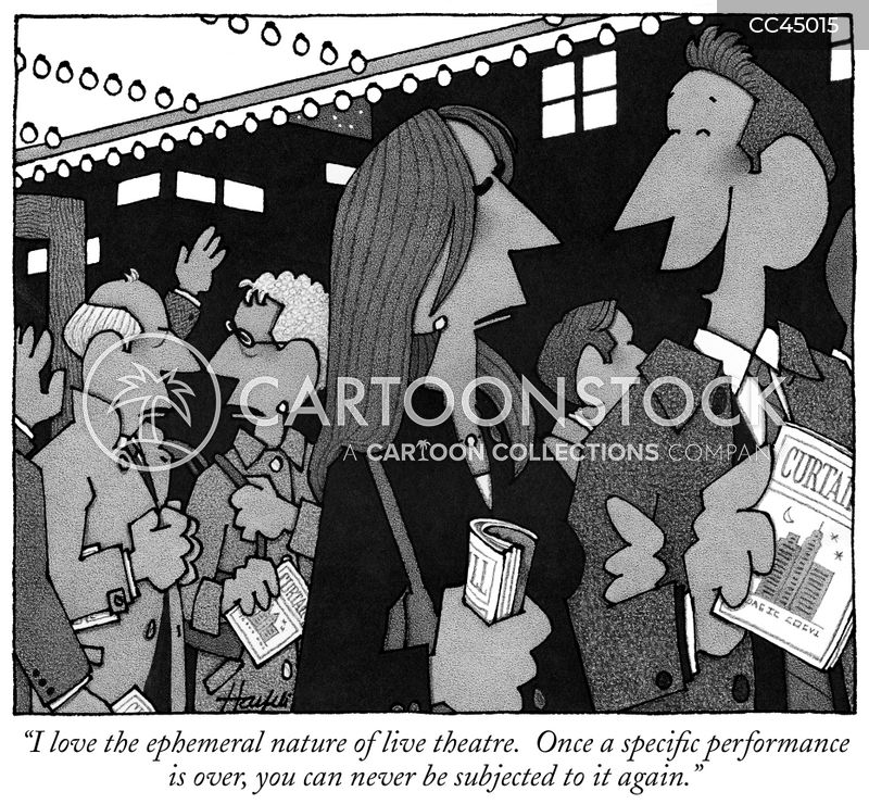 theatre goer cartoon