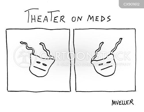 theater masks cartoon